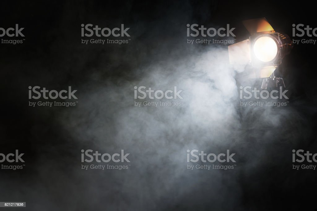 Spotlight on the stage stock photo