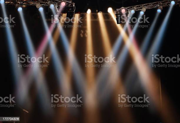 Spotlight Show For Stage Performance Stock Photo - Download Image Now