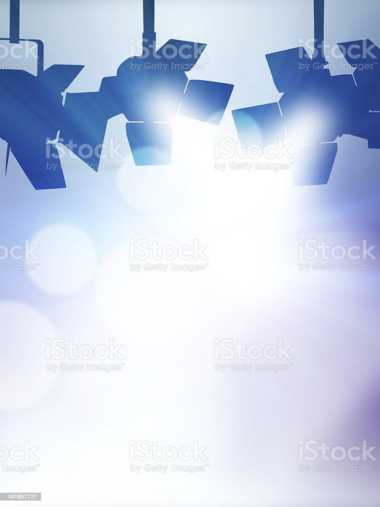 Spotlight silhouettes stock photo