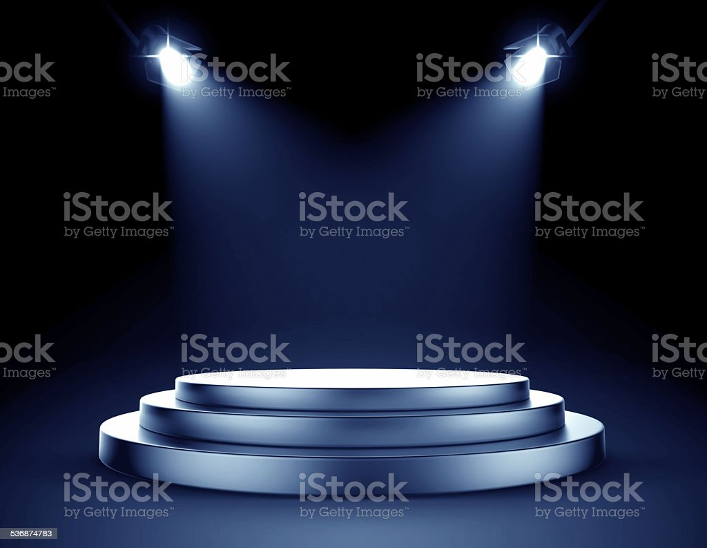 Spotlight stage stock photo