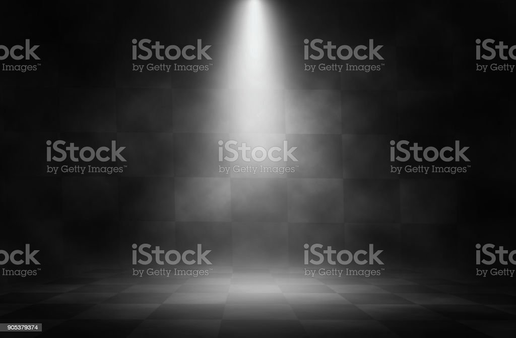 Spotlight white stage on the racing background. stock photo