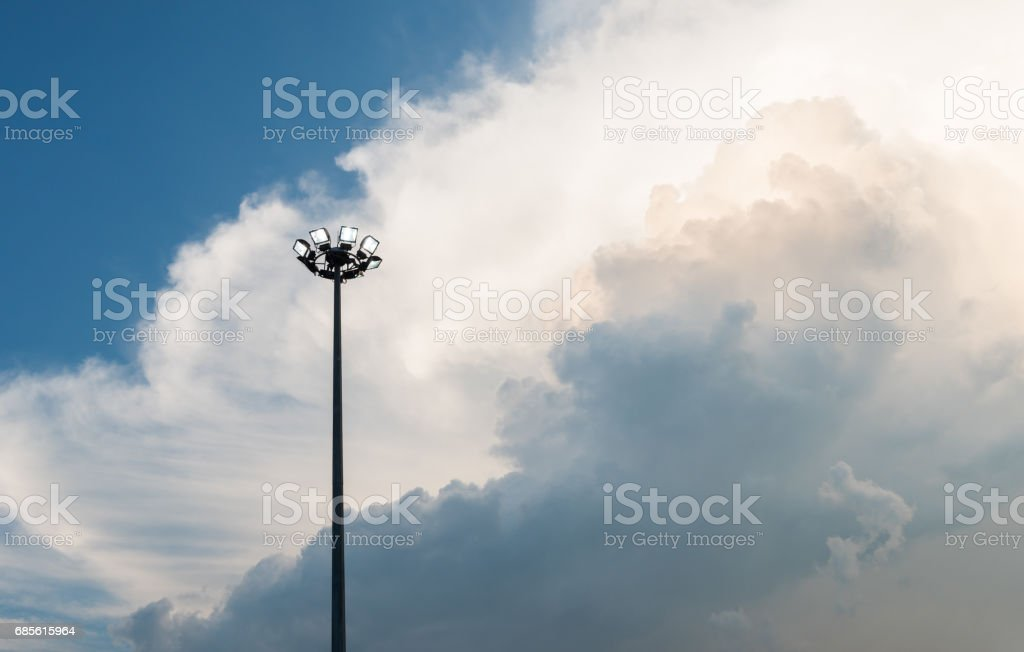 spotlight with blue and white cloud sky royalty-free 스톡 사진