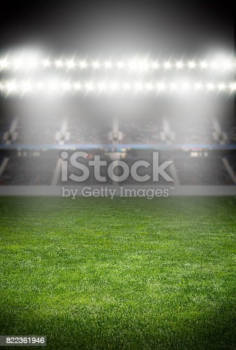 istock spotlights at the soccer arena 822361946