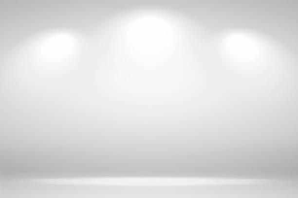 聚焦場景。抽象白色背景空房間工作室背景,用聚光燈顯示您的產品 - background 個照片及圖片檔