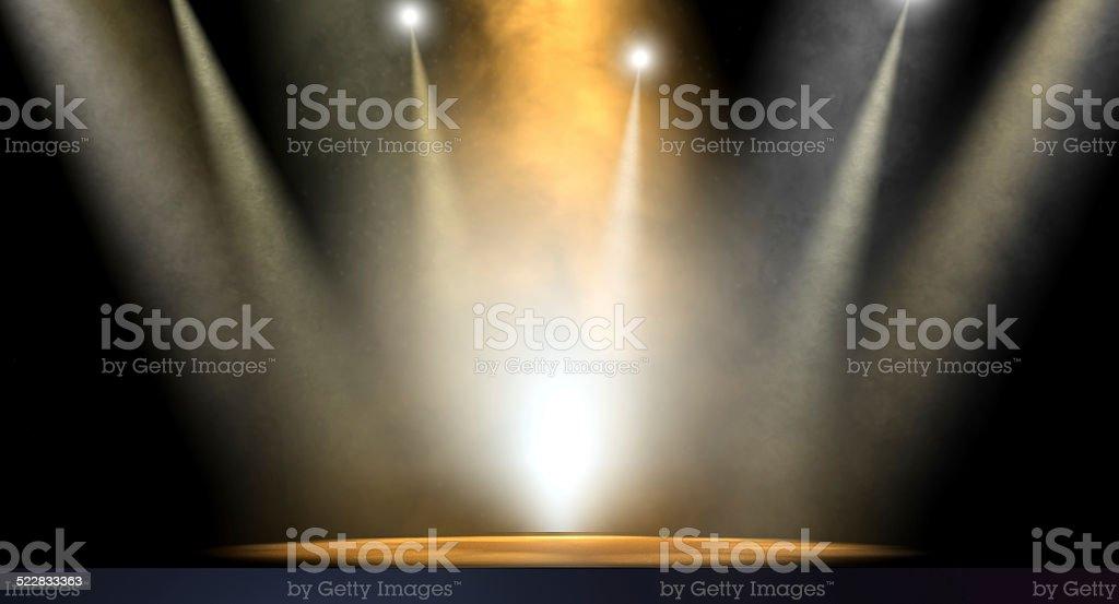Spotlit Stage stock photo