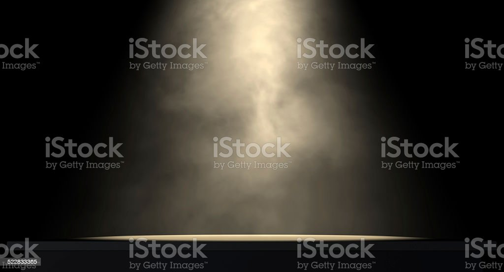 Spotlit Stage stock photo