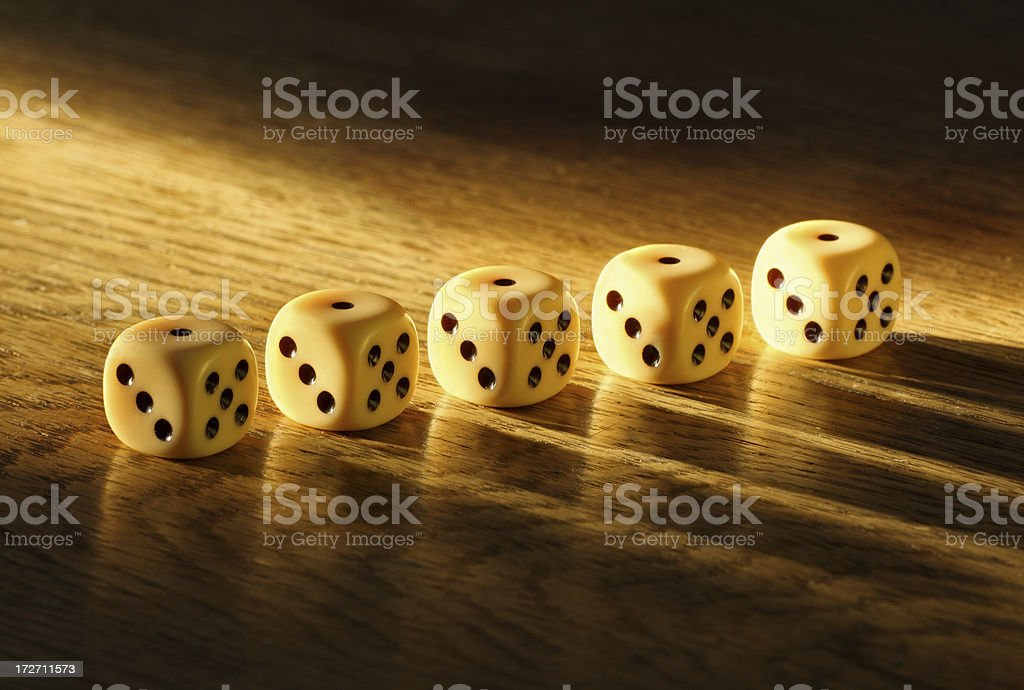 Spotted Dice royalty-free stock photo