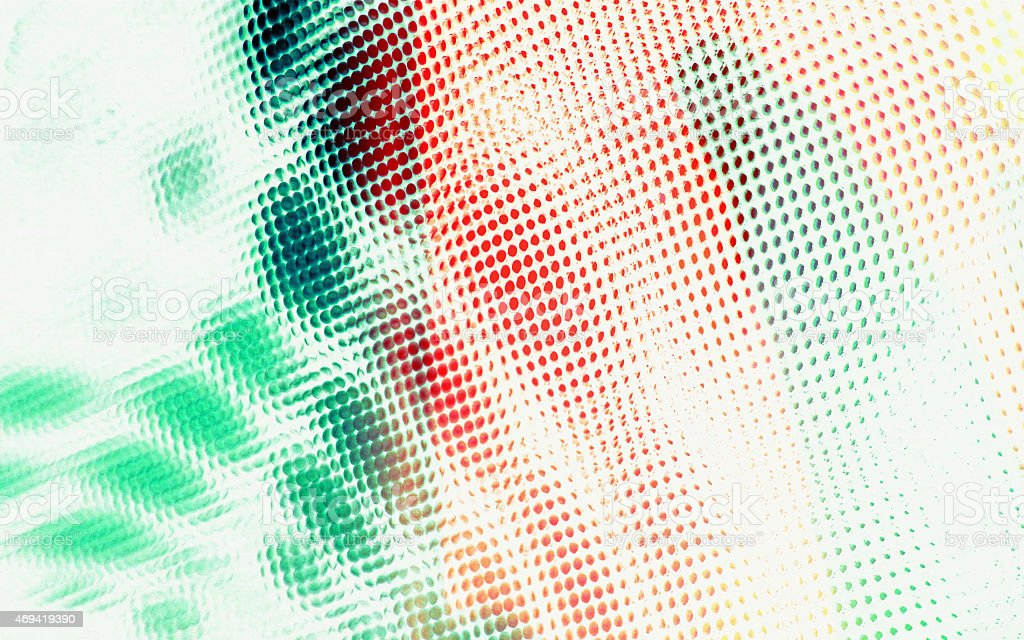 Spotted Green Red cells background dots abstract circles halftone pattern stock photo