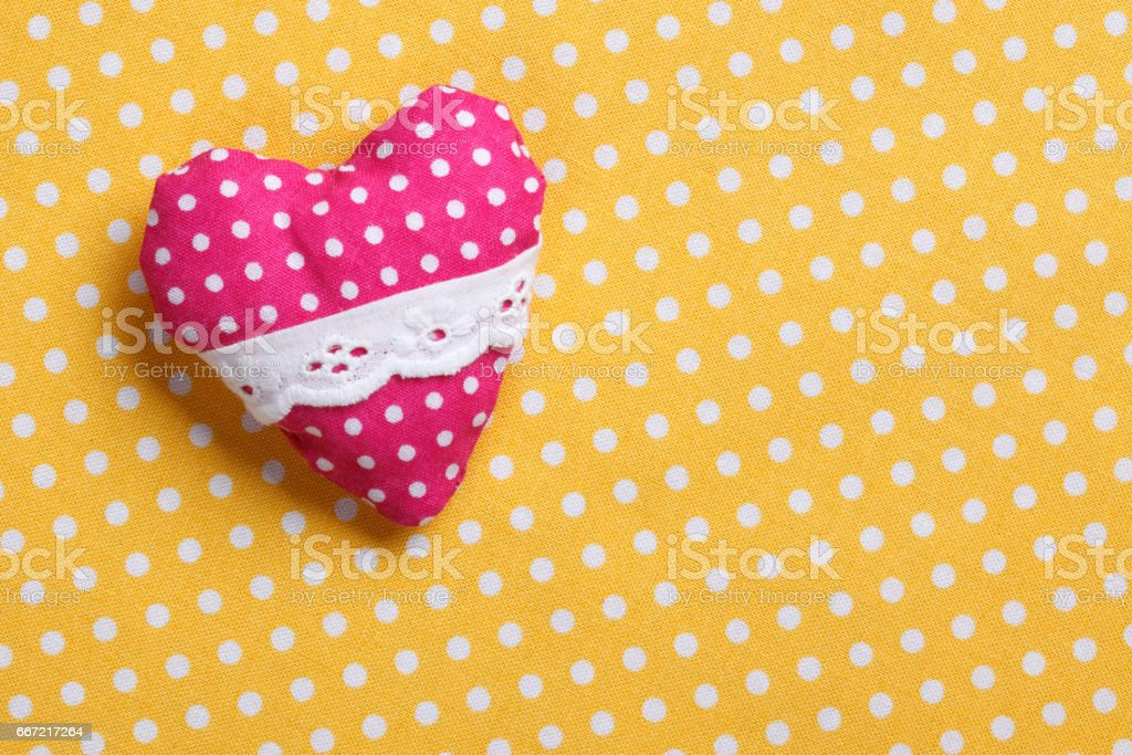 Spotted heart royalty-free stock photo