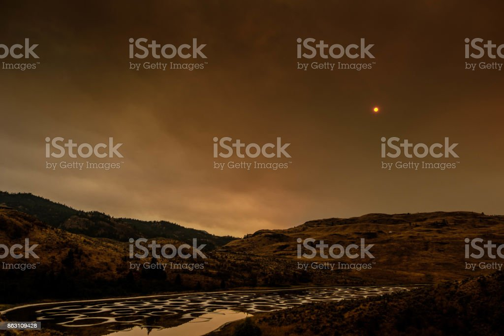 Spotted Lake Osoyoos stock photo