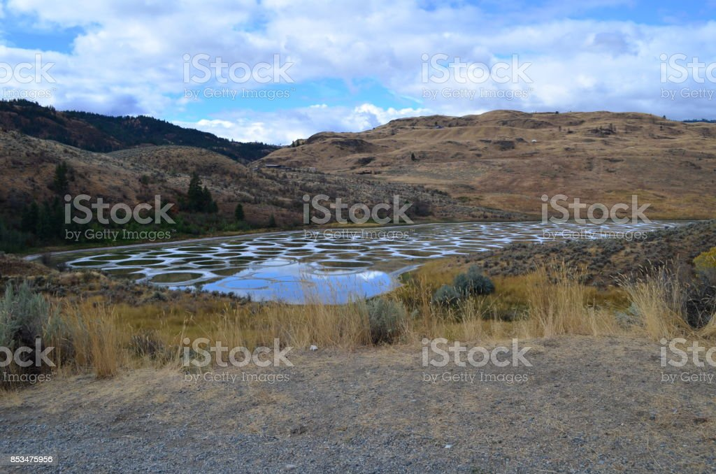 Spotted lake stock photo