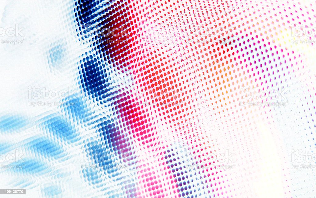 Spotted Medical Blue Red background dots abstract circles halftone pattern stock photo