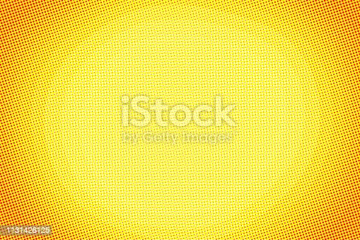 istock Spotted orange background, blank frame with copy space 1131426125