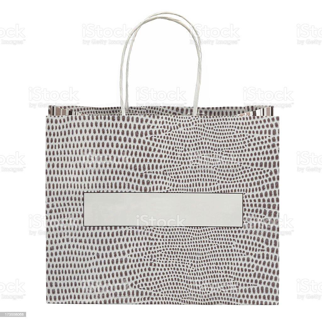 Gepunktete-Einkaufstasche Lizenzfreies stock-foto
