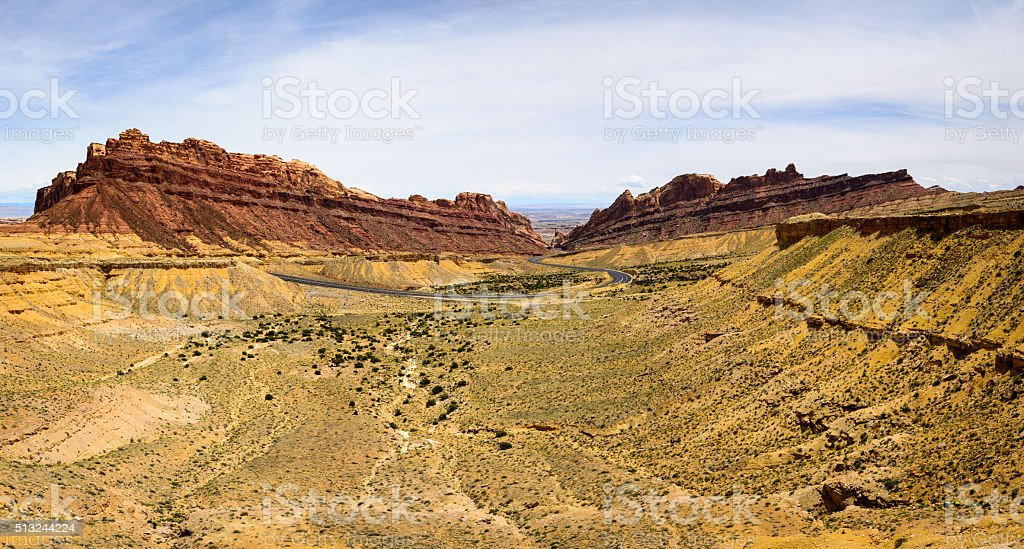 Spotted Wolf Canyon stock photo