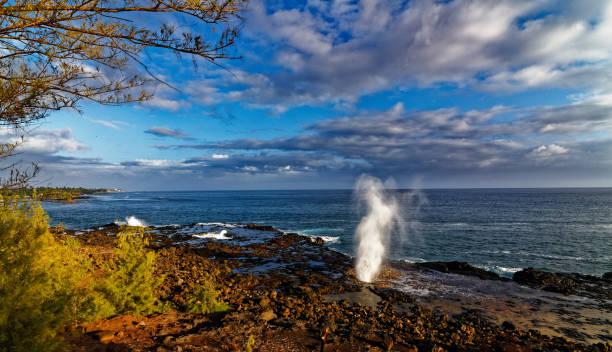 Spouting Horn blowhole Koloa near Poipu, Kauai, Hawaii