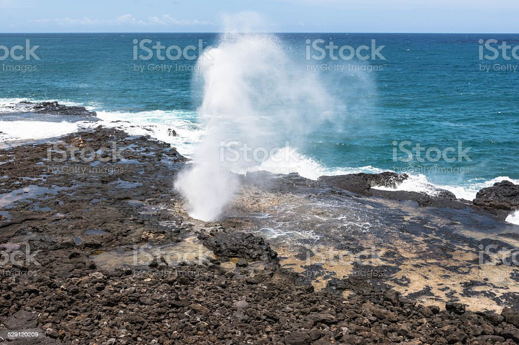 Spouting Horn in Kauai, Hawaii stock photo