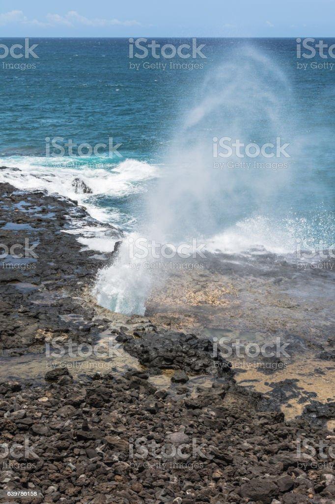 Spouting Horn, Kauai, Hawaii stock photo