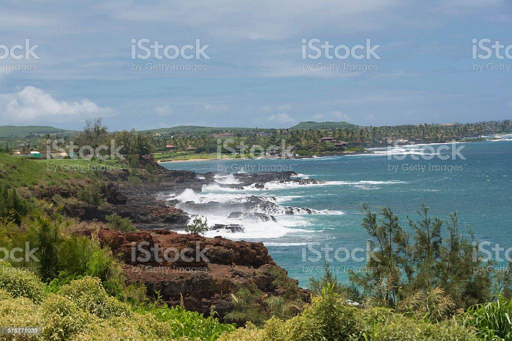 Spouting Horn, Kauai stock photo