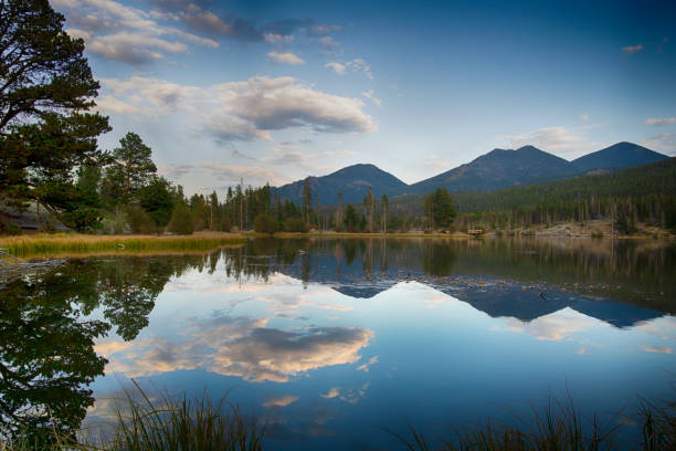 Sprague Lake in Rocky Mountain National Park stock photo