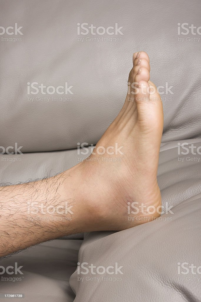 Sprained ankle stock photo