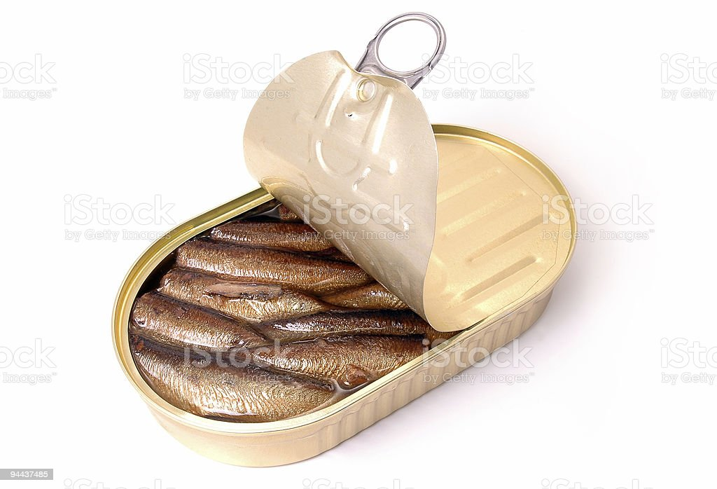 Sprats can royalty-free stock photo