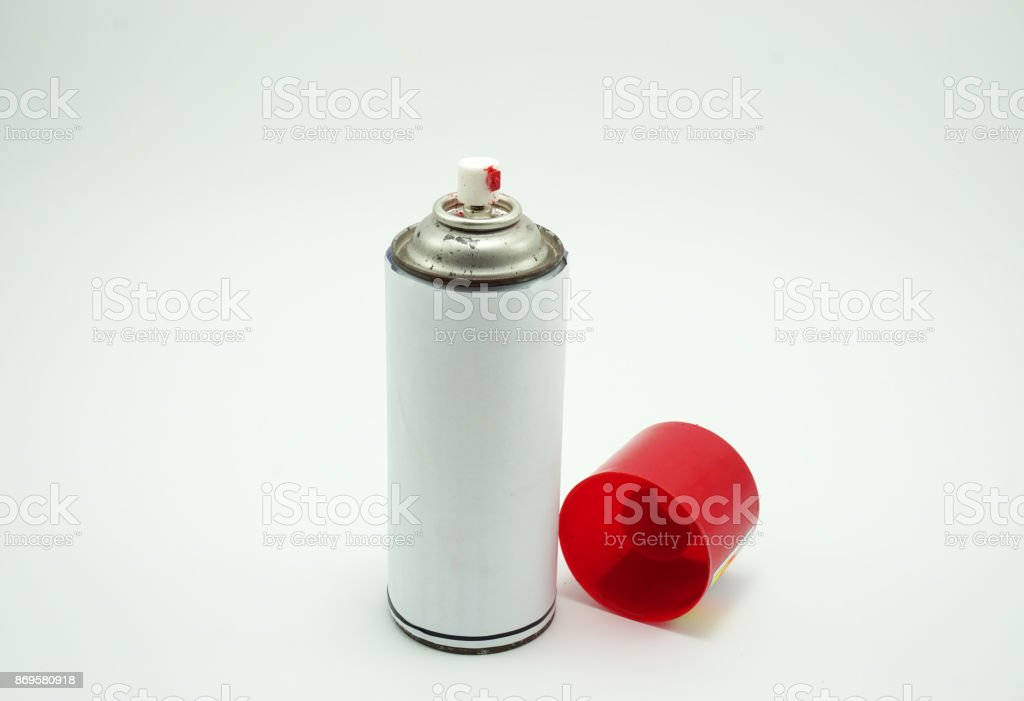 Spray bottle isolated on white background - foto stock