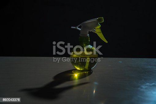 istock A spray bottle with water is on the table 892043376