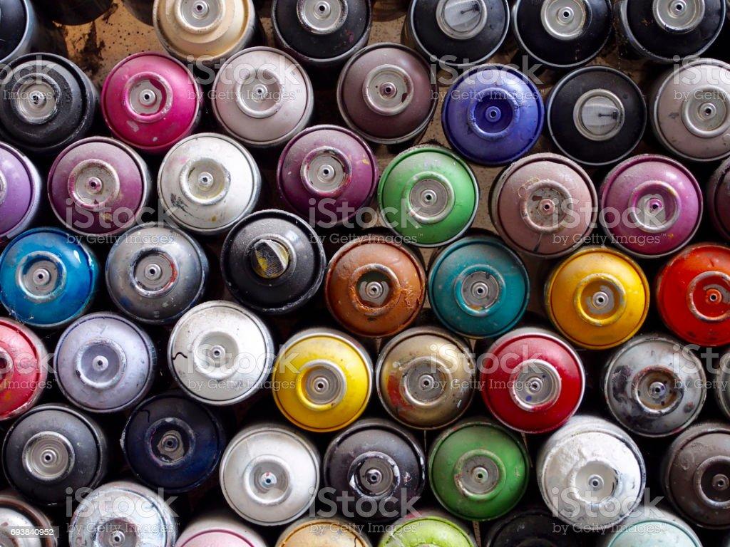 Texture à vaporiser bouteilles peinture - Photo