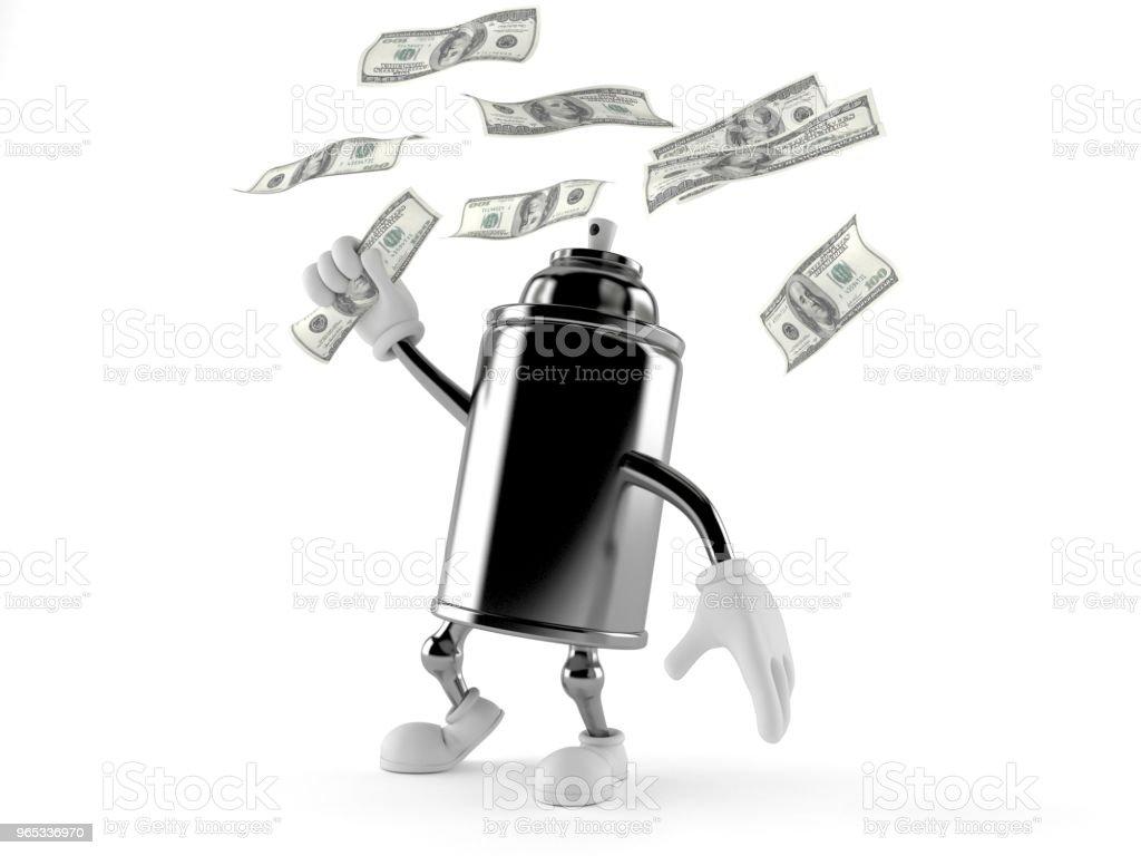Pulvérisation peut personnage argent capture - Photo de Activité bancaire libre de droits