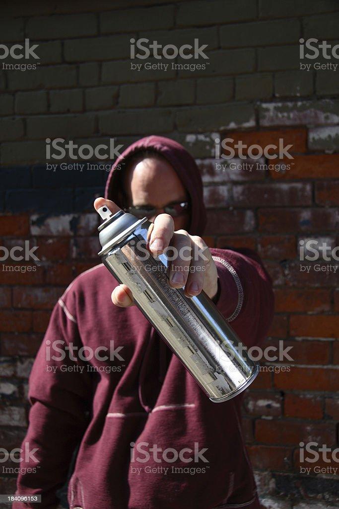 Spray Can Man royalty-free stock photo