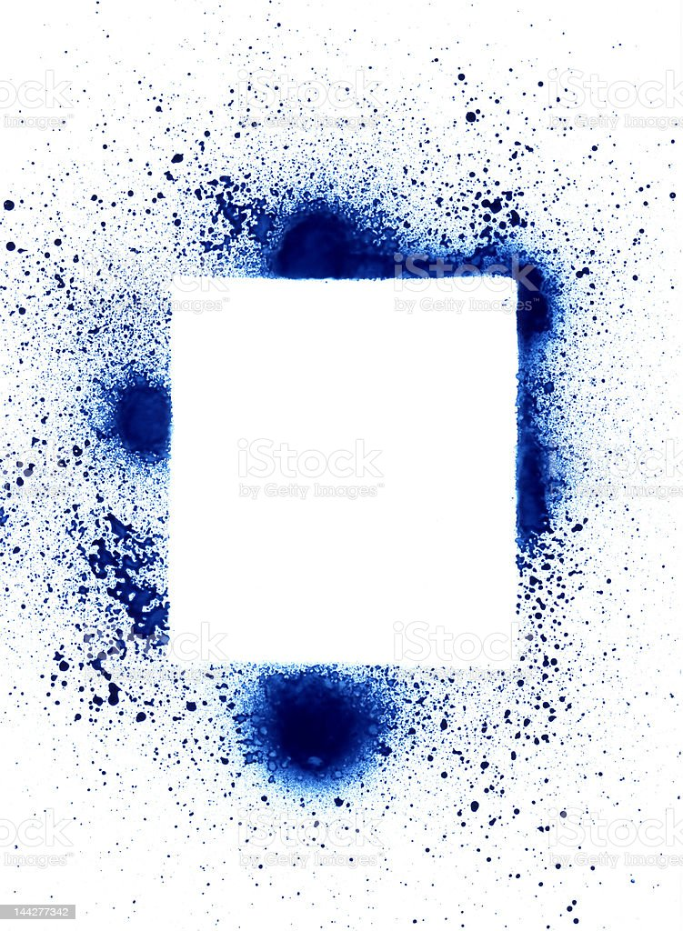 Spray can splatter design elements royalty-free stock photo