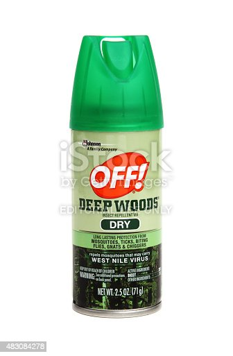 927641110 istock photo Spray container of Deep Woods OFF 483084278