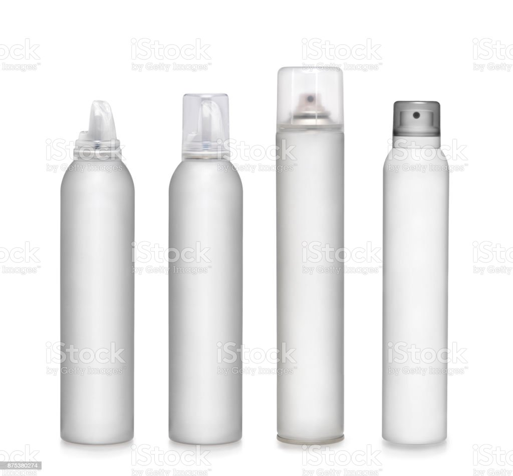 Spray containers stock photo