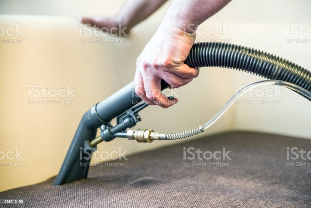 Spray extraction cleaner stock photo