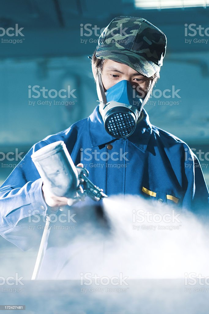 Spray gun royalty-free stock photo