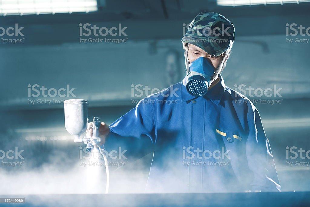 Spray gun stock photo