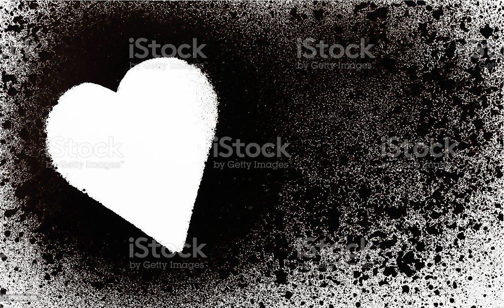 spray heart stock photo