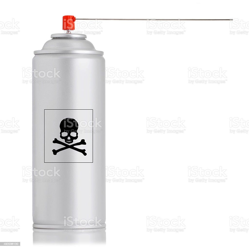 spray insecticide can isolated stock photo