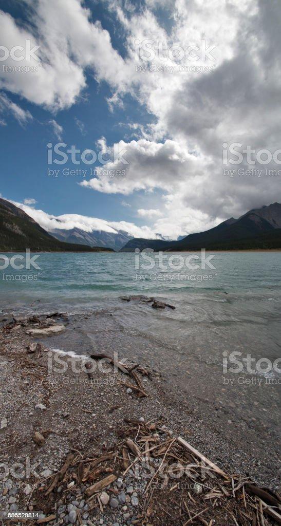 Spray Lakes vertical foto stock royalty-free