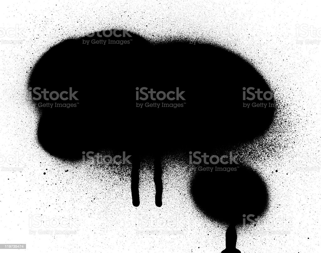 spray paint and drips stock photo