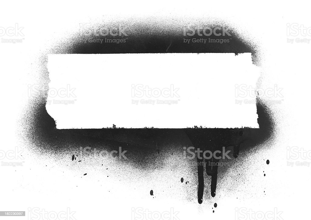 Spray Paint Banner stock photo