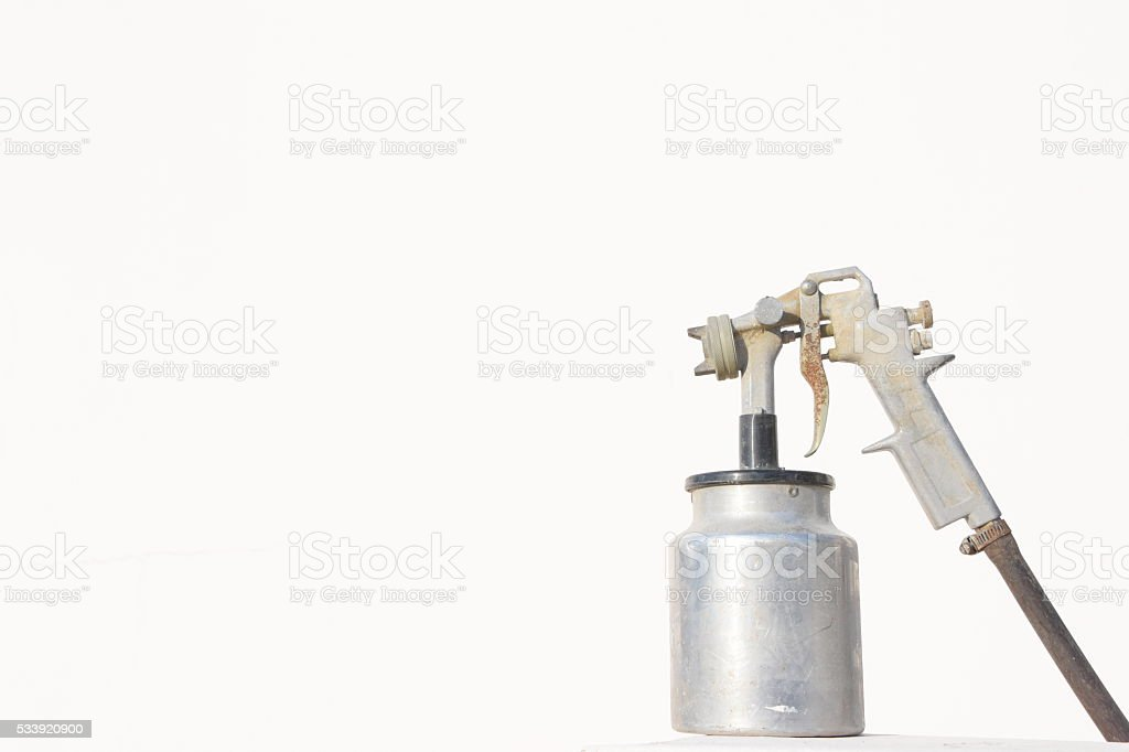 Spray Paint Isolated on white stock photo