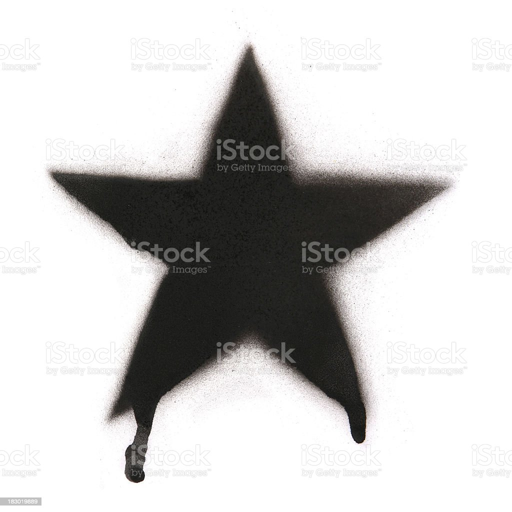 Spray Painted Star stock photo