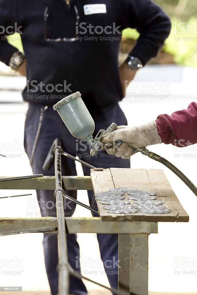 spray painter royalty-free stock photo