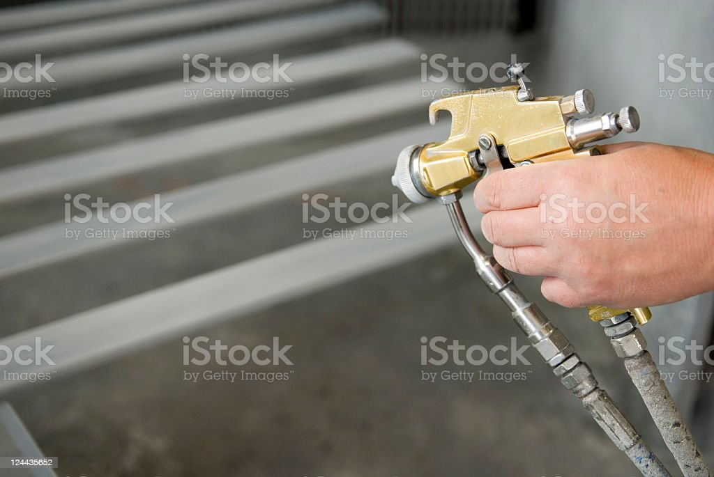 Spray Painting royalty-free stock photo
