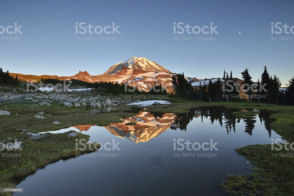 Spray Park in Mt. Rainier stock photo
