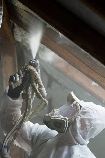 spray polyurethane foam for roof - gommapiuma foto e immagini stock