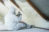 istock spray polyurethane foam for roof 1022727968