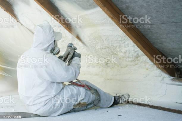 Photo of spray polyurethane foam for roof